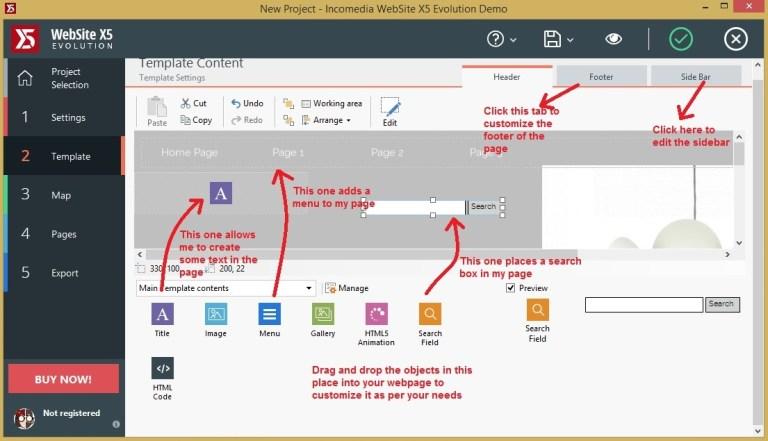 Websiet X5 template_template content