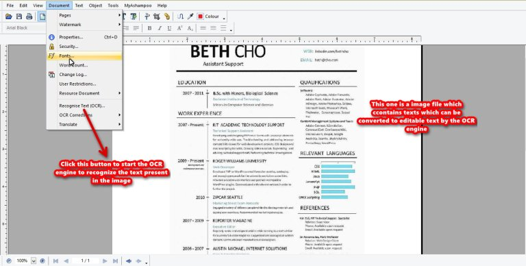 Ashampoo PDF Pro OCR