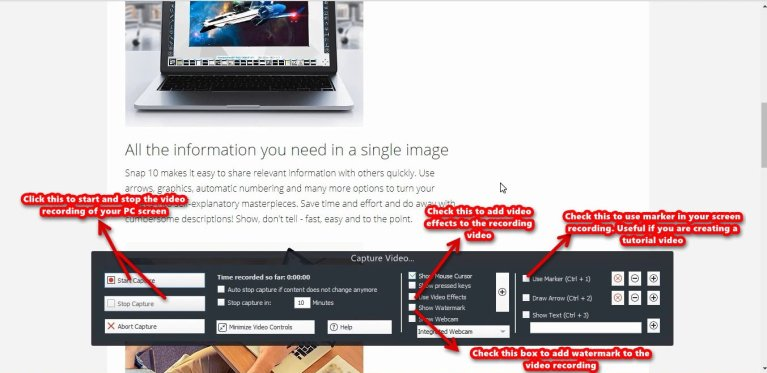 Ashampoo Snap capture video tools