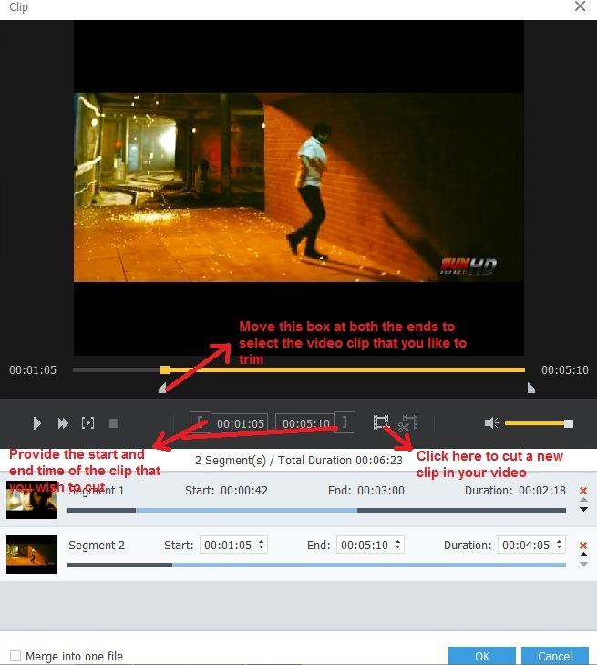 AnyMP4 cut video clip