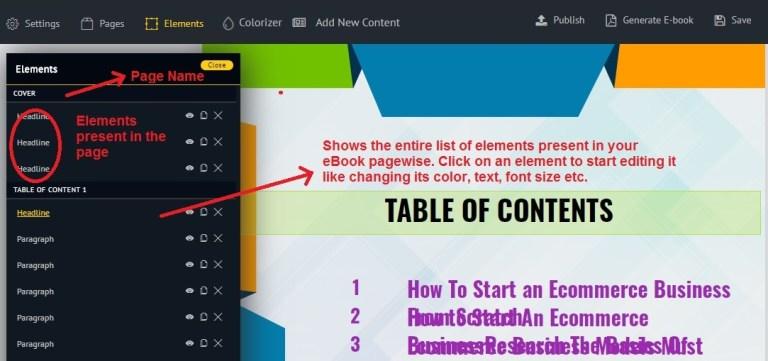 Sqribble element formatting