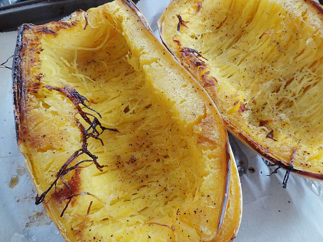 How to roast a spaghetti squash from The Cheerful Kitchen.