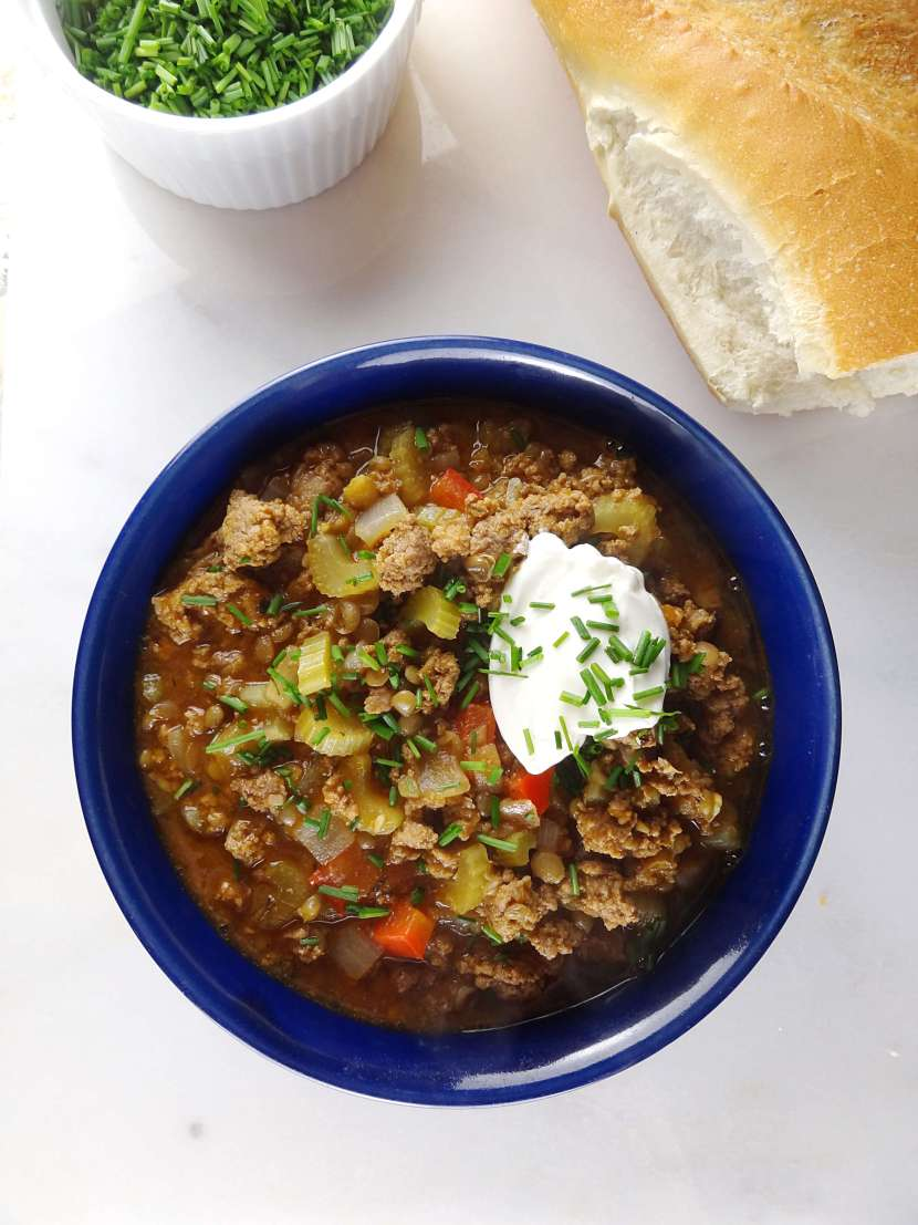 Lamb & Lentil Stew from The Cheerful Kitchen. Click for the easy recipe!