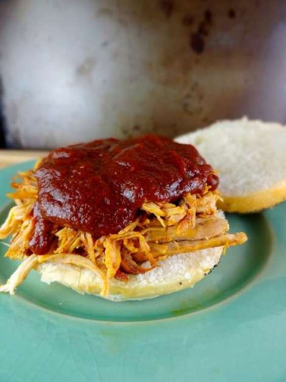 Slow Roasted Pulled Pork with Paleo BBQ Sauce is also Whole 30 approved! The Cheerful Kitchen