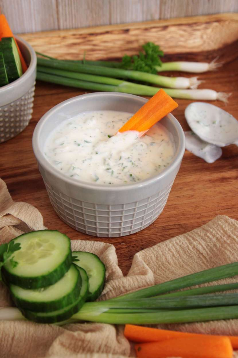 Healthy Greek Yogurt Dip is perfect for a party! Get the recipe now at The Cheerful Kitchen