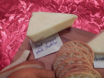 Aged Vermont White Cheddar....taste runner up