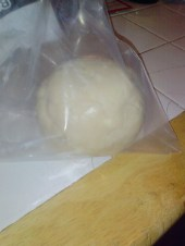 Pie dough about to hit the refrigeratort the