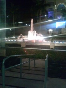Water fountain at the Gulfstream