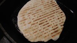 Nicely grilled flatbread