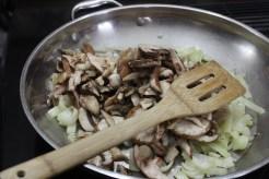 The making of a mushroom filling