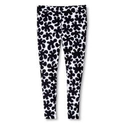 black white swim leggings