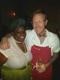 C.I.P. and Chef Zeb, the man behind the food.