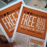 Yep they were offering free pizzas to the public