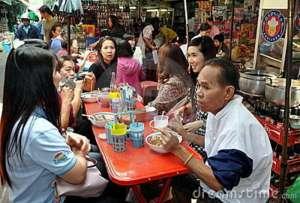 Chinatown restaurant in Bangkok, Thailand