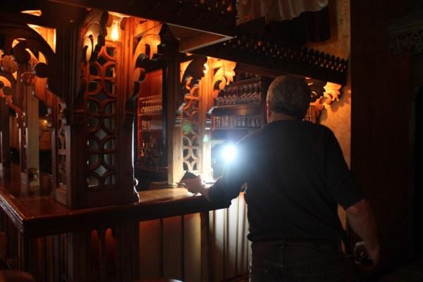 Battman setting up lights