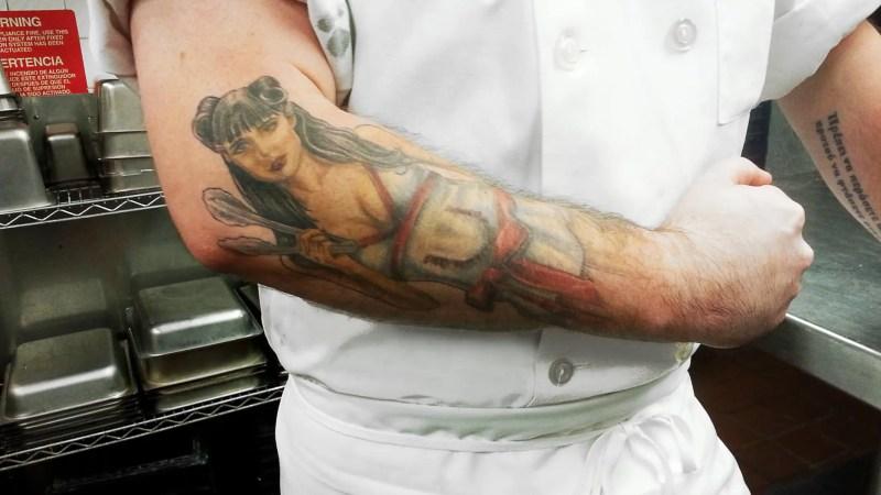 Stephen Giannos' tattoo
