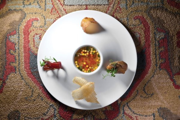 Duck Consommé by Guy Reuge. Photo by Battman. Master Chefs of France, 2017