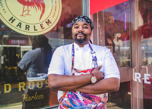Chef Edward Brumfield, Executrive Chef of the Red Rooster restaurant in NYC.