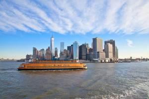 Staten Island Ferry and NYC skyline. Photo by Battman.