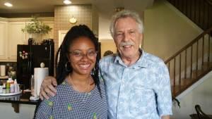 Chef/Entrepreneur Haile Thomas with Battman.