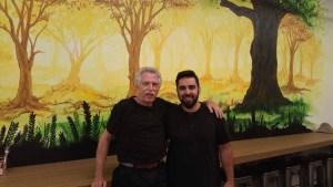 Chef Thiago Silva with Battman