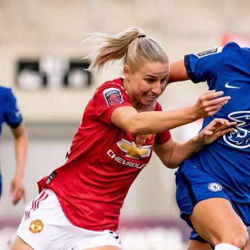 Chelsea Women vs. Manchester United Women at Leigh Sports Village, September 5th 2020.