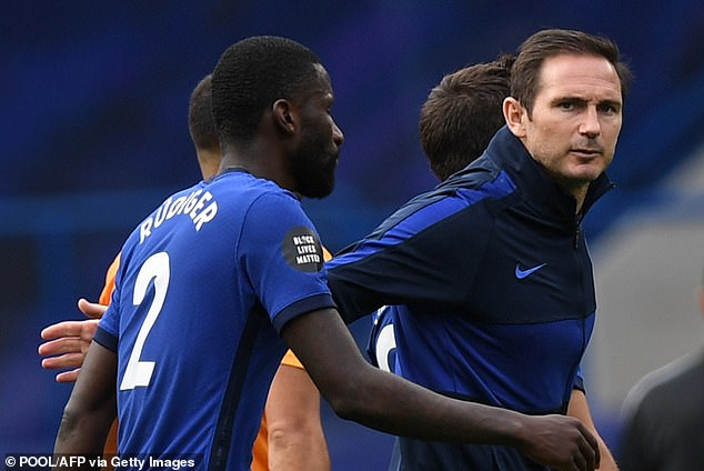 Has Rudiger played his last game from Frank at Chelsea? Credit: Pool/AFP via Getty Images