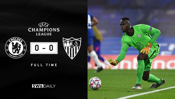 Chelsea 0-0 Sevilla Final Score.