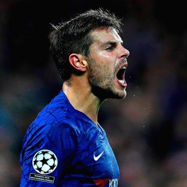 Cesar Azpilicueta giving everything for Chelsea