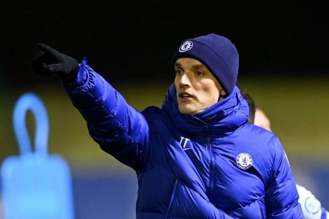 Tuchel training with Chelsea