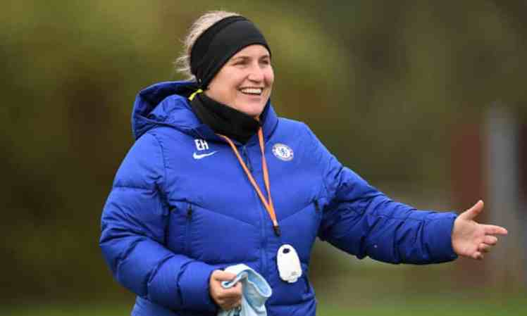 Emma Hayes, inspirational Chelsea FCW manager.