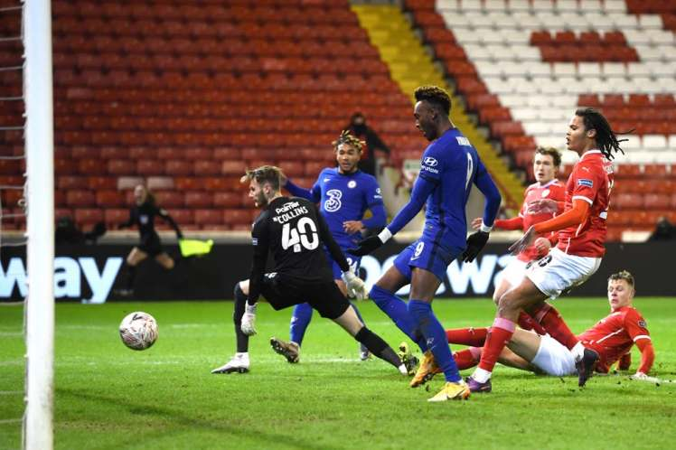 Tammy Abraham scored the only goal to seal Chelsea's progress into the FA Cup Quarter-Final. Credit  | Getty Images