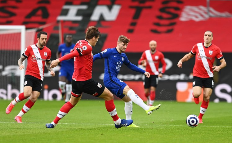 Timo Werner couldn't get on the scoresheet against Southampton