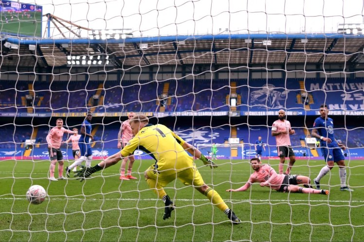 Chelsea edged past Sheffield United in the quarter finals to set up their tie against Manchester City (Photo by Justin Setterfield - The FA/The FA via Getty Images)