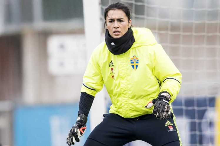 The tall keeper is one of Sweden's foremost goalkeeping talents.
