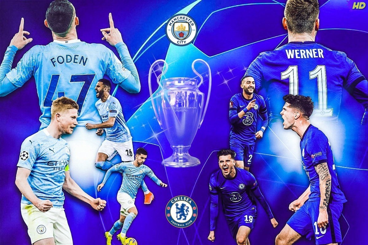 Manchester City Vs Chelsea. The Champions League final. Matchday edit by @hayleydesign