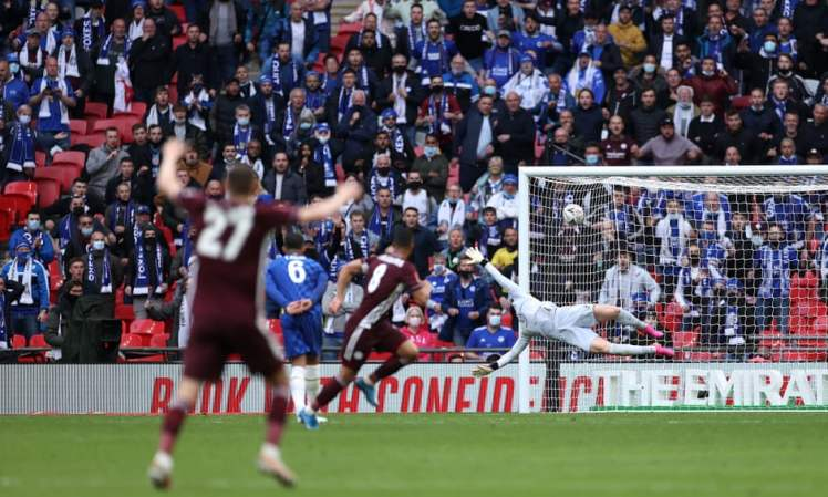 Tieleman's long-range strike proved to be the difference between Leicester v Chelsea in the FA Cup Final. Credit | The FA/The FA/Getty Images
