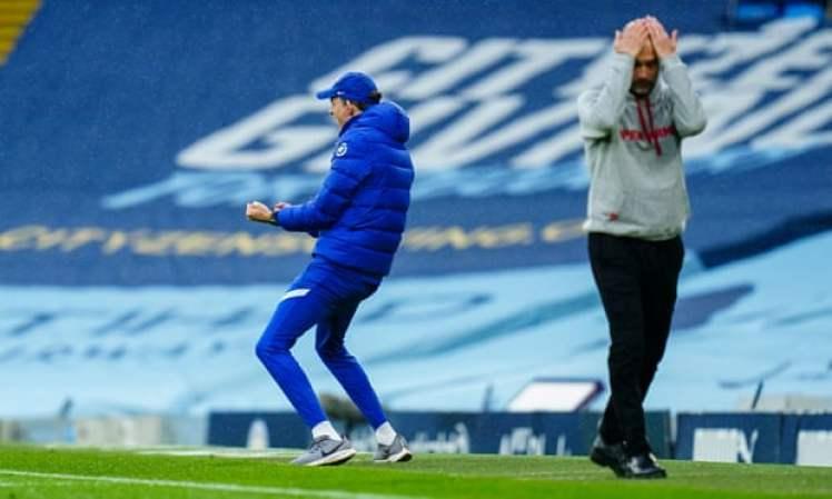 Joy for Tuchel, despair for Guardiola as Chelsea seal a dramatic, late 2-1 winner at the Etihad. Credit | Javier García/BPI/Shutterstock