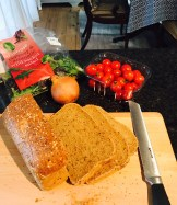 Slicing a small loaf lengthways ensures the dream sized sarnie