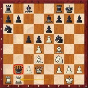 Chess Tactics trapped piece