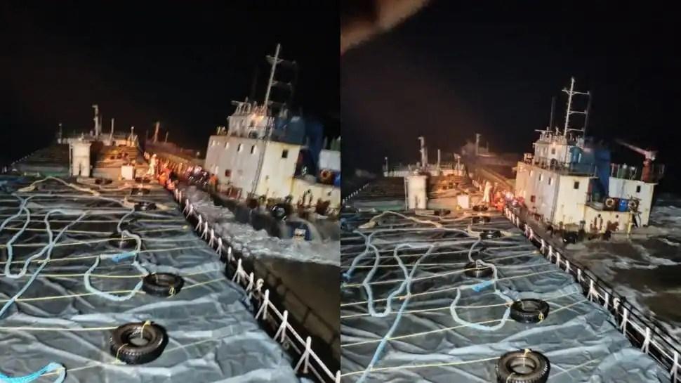 Indian Coast Guard saves all 12 crew members of MV Kanchan that sank off Gujarat coast