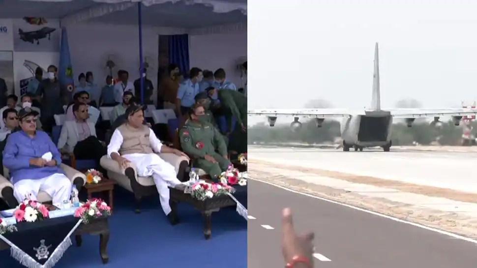 Emergency landing strip for IAF planes on Barmer national highway inaugurated, Rajnath Singh, Nitin Gadkari attend