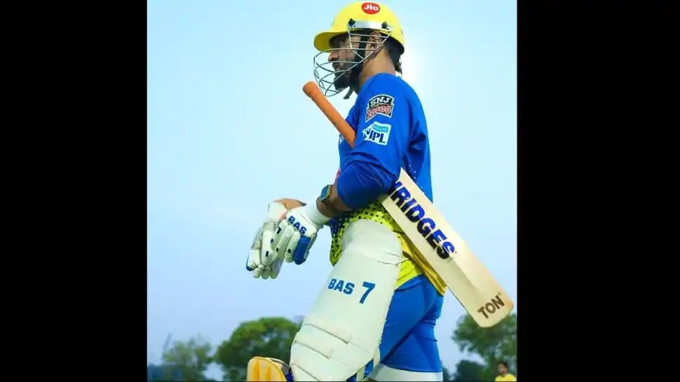 MS Dhoni rains sixes in training session, Chennai Super Kings post hilarious video