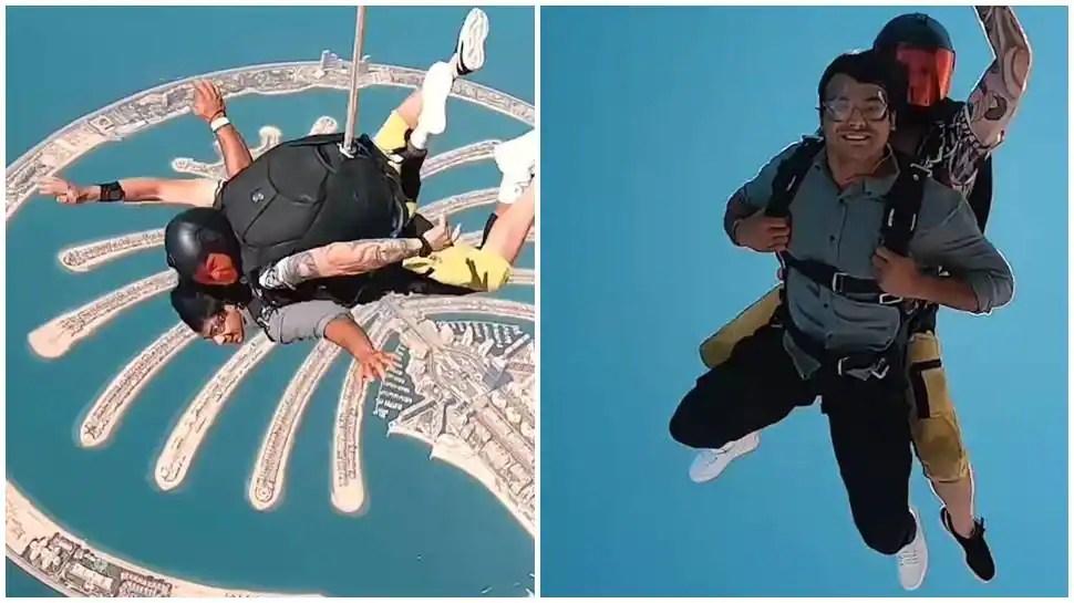 After vacation in Maldives, Neeraj Chopra enjoys skydiving in Dubai