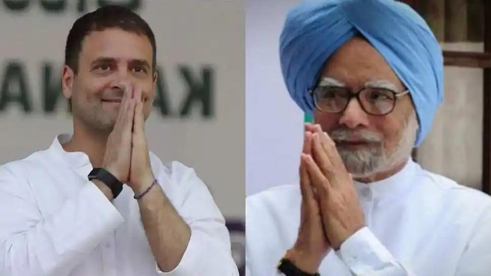 Congress leader Rahul Gandhi visits former PM Manmohan Singh at AIIMS