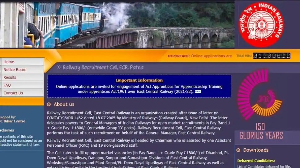 East Central Railway Recruitment 2021: Apply for 2206 Apprentice posts at rrcecr.gov.in
