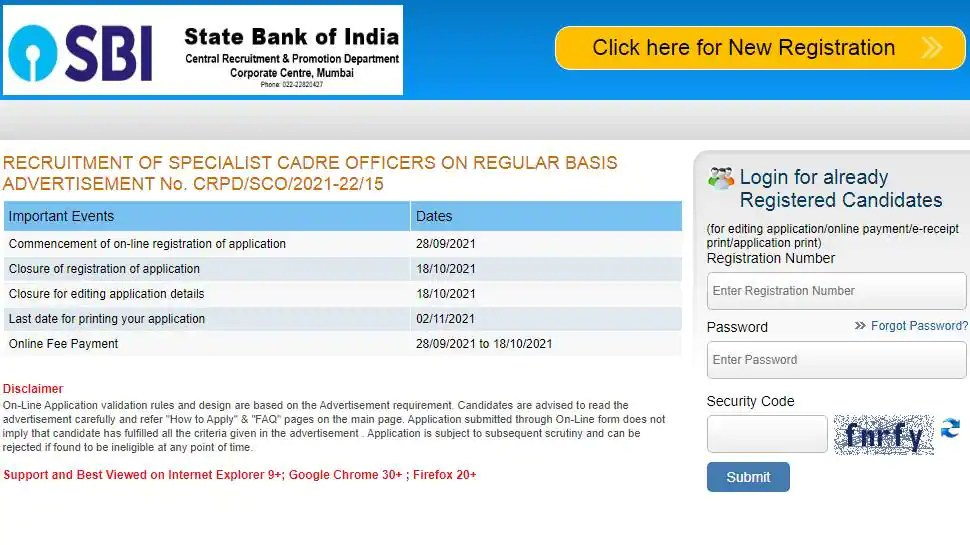 SBI SO Recruitment 2021: Hurry up! Apply for over 600 posts to Specialist Cadre Officers, last date October 18