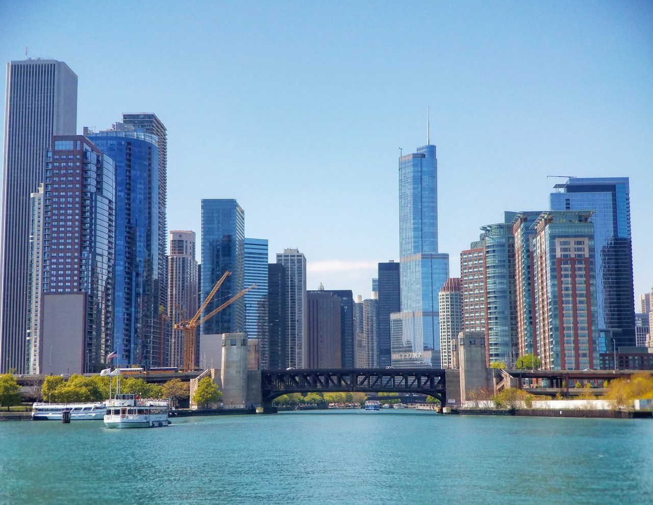 Chicago From The Water Picture Perfect Day!! The