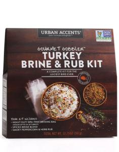 Image of Turkey Brine Kit from Urban Accents. This kit includes everything you will need to make a delicious turkey on Thanksgiving!