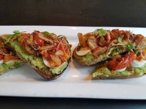 Avocado Toast- Brunch Menu at Grassroots eatery